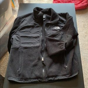 The north face zip up fleece size large